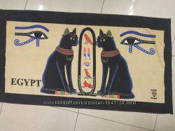 Полотенца пляжные большие натуральные хлопковые с Египетскими кошками