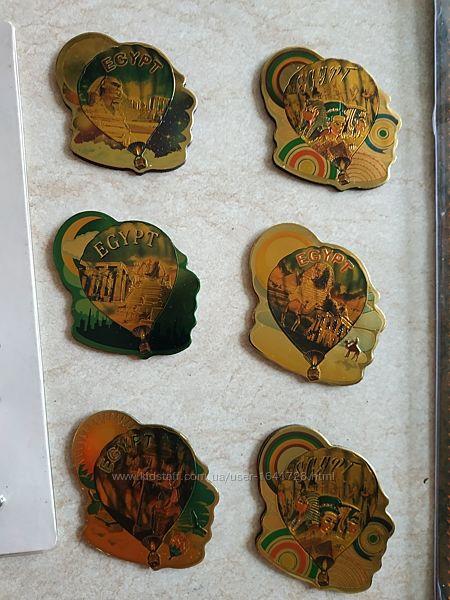магниты на холодильник железные из Египта с Фараоном Нефертити Клеопатрой