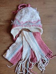 комплект шарф шапка зимний