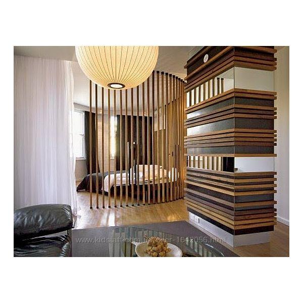 Деревянные рейки, брус в интерьере, монтаж на стены и потолок