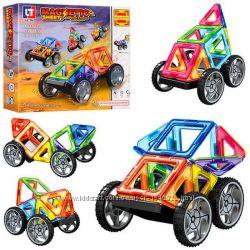 Магнитный конструктор Le Tai  LT3001 32 детали квадраты треугольники колеса