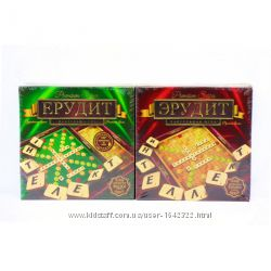 Настольная игра Эрудит Премиум Premium деревянные фишки Danko Toys