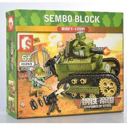Конструктор Sembo 101269 Танк FT-17 368 деталей