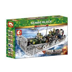 Конструктор Sembo 101362 Десантный корабль LCM3 413 деталей