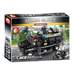 Конструктор Sembo 102438 SWAT Отряд 705 деталей