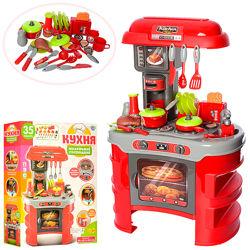 Детская игровая Кухня 008-908A 45,5-26,5-69 см, посуда, тостер, звук, свет,