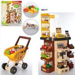 Игровой набор Супермаркет Магазин 668-77 свет, звук 47 предметов