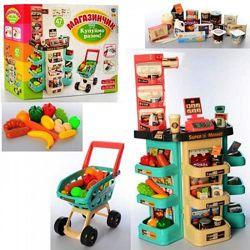 Игровой набор Супермаркет Магазин 668-76 свет, звук 47 предметов