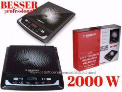 Индукционная плитка керамическая Besser 10212 2000W электро плита