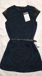Нарядное платье рукав гипюр Франция Punkidz  в стиле Femily look на 6-14лет