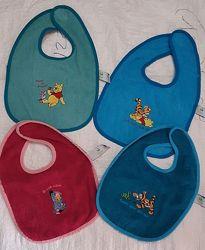 Детские махровые фирменные слюнявчики Disney