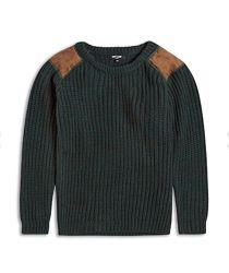 Темно-зеленый вязаный свитер для мальчика на 4-14 лет, Riot Club Англия