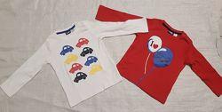 Реглан кофта, футболка Lupilu для мальчиков размеры 62-68, 86-92