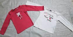 Кофточка футболка Lupilu для девочки Германия размер 74-80, 86-92