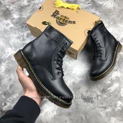 Кожаные ботинки dr. martens classic boots black доктор Мартинс черные