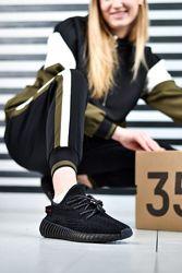 Кроссовки женские Adidas Yeezy 350 Static Black