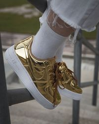 Кроссовки женские Nike Air Force 1 SP Liquid Metal Gold