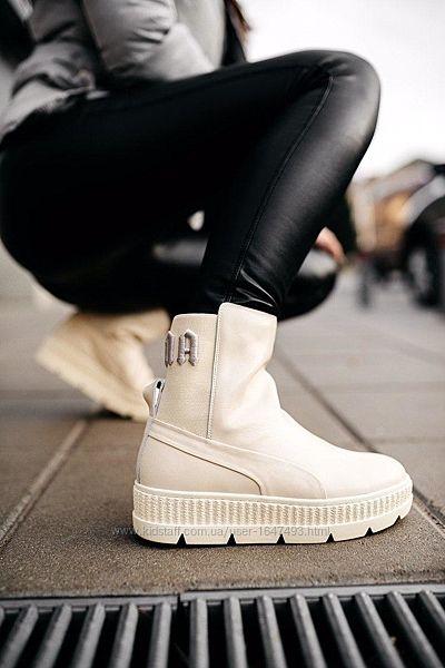 Ботинки женские демисезонные Puma by rіhanna chelsea vanilla ice