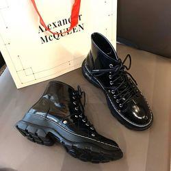 Ботинки демисезонные McQueen Ankle Boots Black