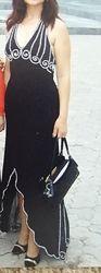 Вечернее, праздничное, выпускное женское платье в пол. Чёрное. 46-48