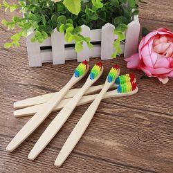Детская зубная бамбуковая эко щётка