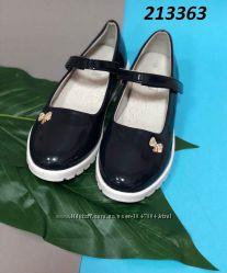 Школьные туфельки для девочек р. 31-35, отл. качество