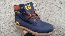 Зимние ботинки Cat Caterpillar кожа, рыжий, черный коричневый