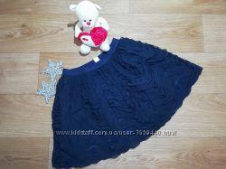 Нарядная пышная синяя юбка на девочку Размер 7-8Т Children´s Place США