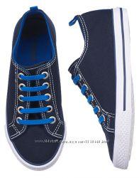 Синие стильные тканевые мокасины для мальчика Gymboree Размер 18, 19 см