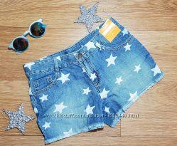 Стильные легкие джинсовые шорты в звездочку Gymboree США Размер 10Т