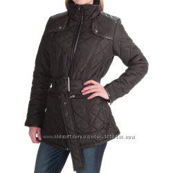 Демисезонная стеганная курточка с вставками из экокожи KC Collections США