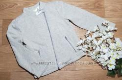 Стильный серый теплый пиджак джемпер с люрексовой нитью на девочку Crazy8