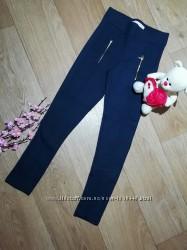 Темно синие хлопковые брюки леггинсы на девочку Размер 9-10Т Zara Girls