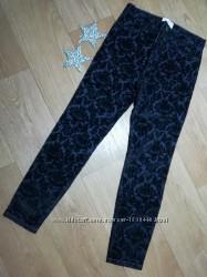 Темно синие брюки-скинни с бархатным узором Размер 10Т Childrens Place