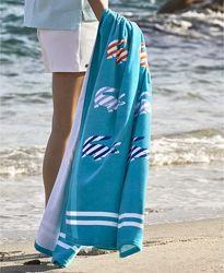 Большие яркие пляжные полотенца Lacoste Оригинал США