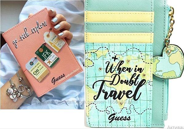 Обложка на  паспорт и  дорожный кошелек  Гуесс  GUESS Оригинал