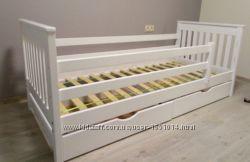 Кровать детская дерево новая кроватка от 1 годика белая
