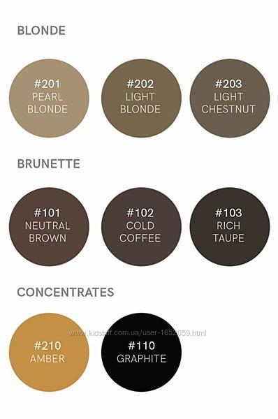 Хна для бровей. Набір BrowXenna  8 відтінків