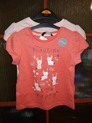 GEORGE комплект из 2 футболок для девочки Размер 2-3года