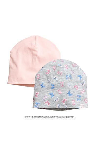 Фирменная шапка, шапочка для девочки H&M, комплект, р.1.5-4 г, 92-104см