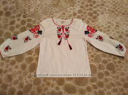 Вышиванка, блуза, блузка хлопок 100