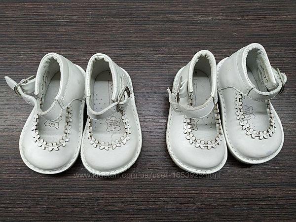 Новые кожанные ортопедические босоножки открытые туфельки туфли 18 размера
