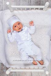 Комплект ясельный нарядный для мальчика на крестины или выписку