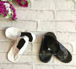 Чешки детские мальчик-девочка белые кожаные размеры 14-22