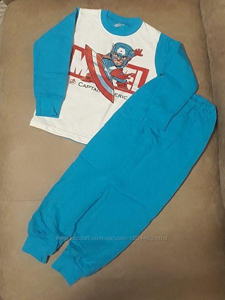 Пижама подростковая Капитан Америка накат начёс