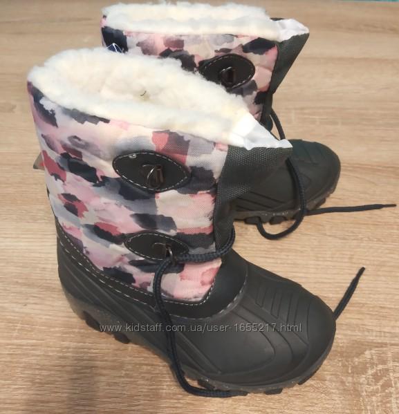 Сноубутсы термо ботинки светится пятка lupilu 24-27 размер