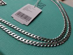 Серебряная цепочка цепь плетение Гурмет Картье панцирное 55 см серебро 925
