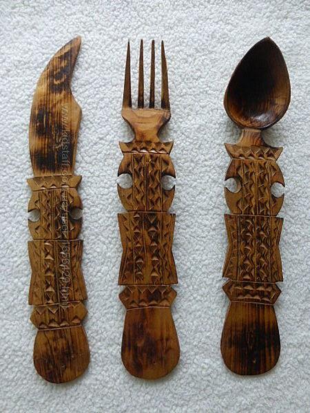 Декор для кафе, кухни. Ложки поварежки Болгария. Дерево.