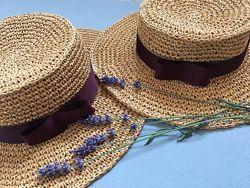 Шляпа канотьє, шляпка із рафії, шляпа на замовлення