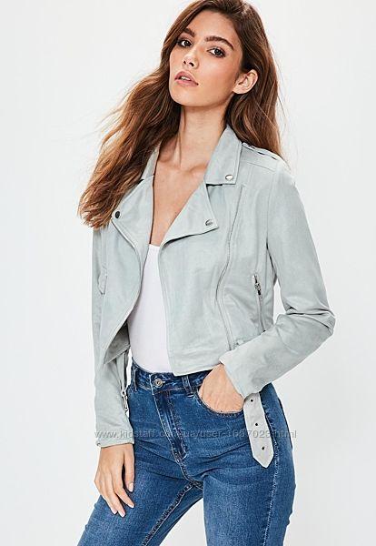 Стильная замшевая куртка-косуха Missguided. Размер М
